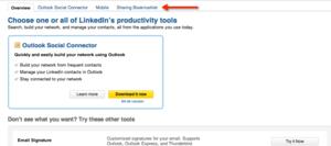 LinkedIn Tools page