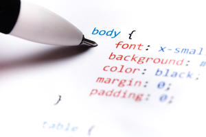 Printout of CSS programming code for blogs and websites