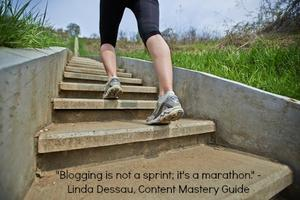 Blogging is like running a marathon