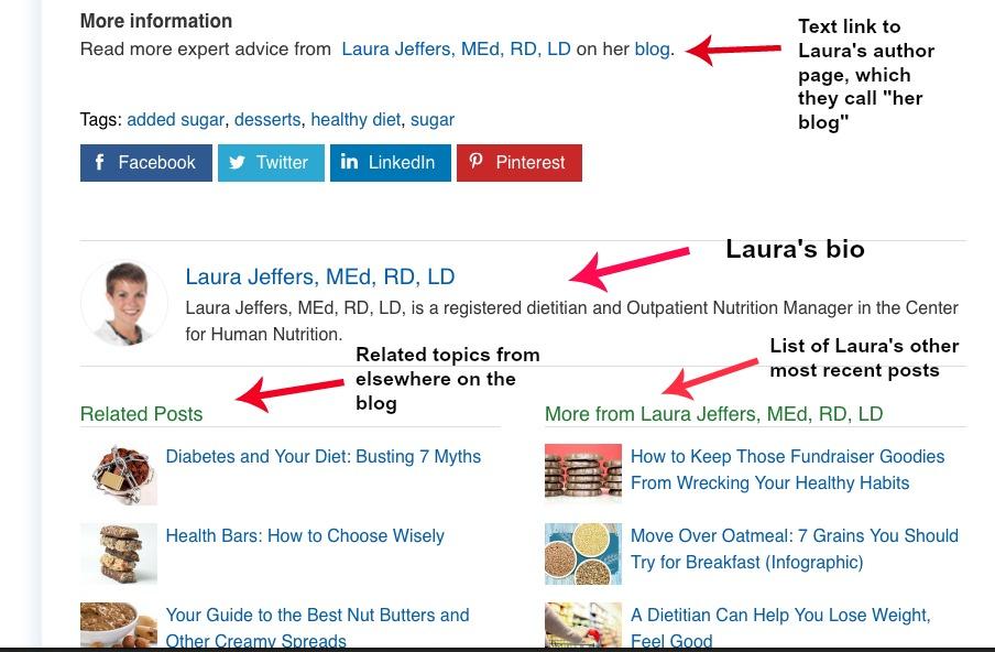 Cleveland Clinic Laura Jeffers bottom bio at Cleveland Clinic Health Essentials blog