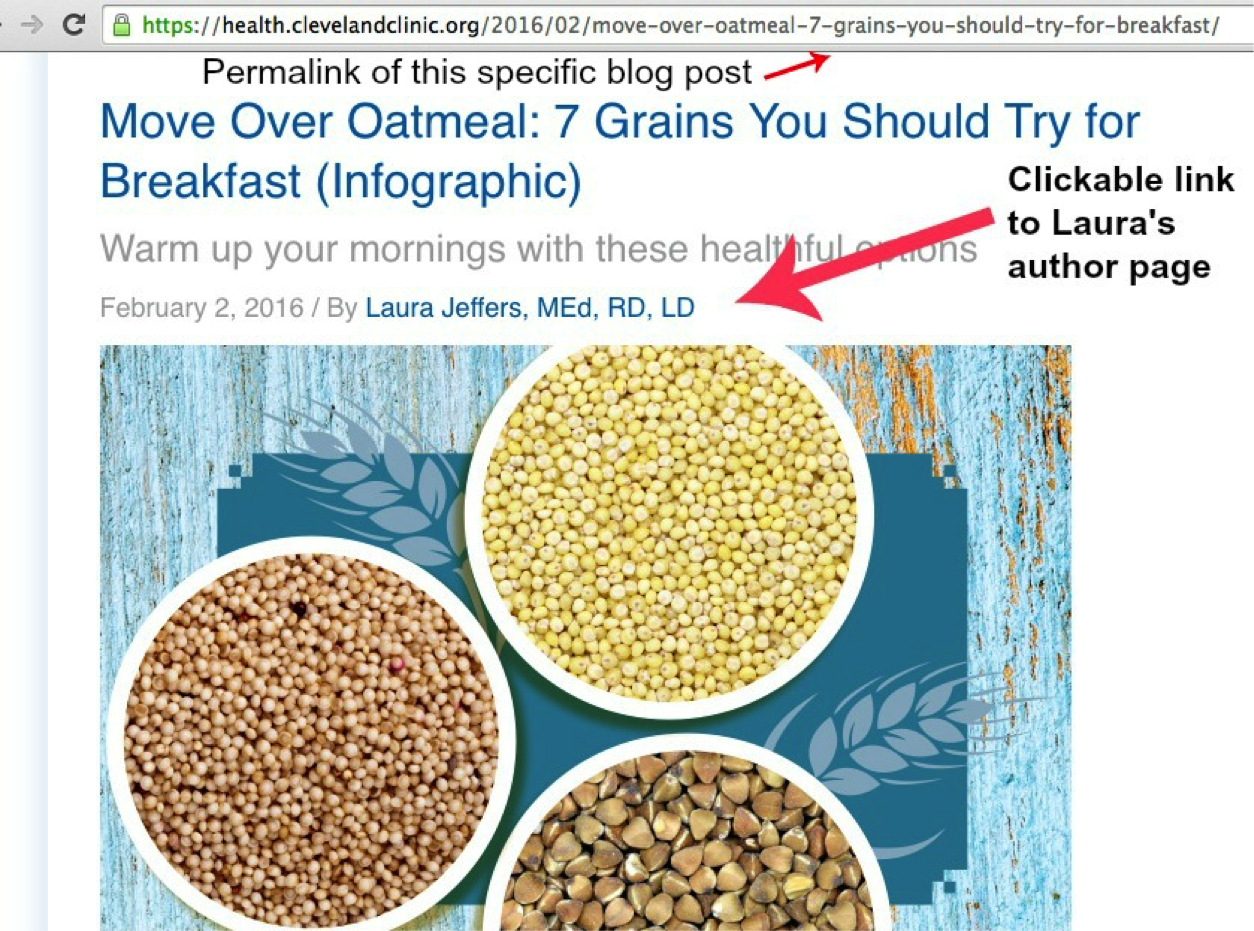 Laura Jeffers post at Cleveland Clinic Health Essentials blog